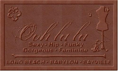 La La Custom 5 X 3 Chocolate Bar mold for a Clothing and Fashion Store